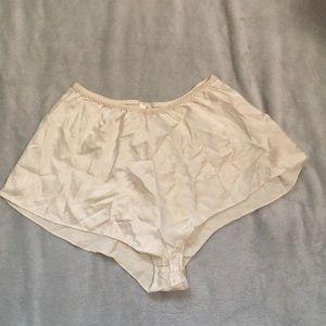 100% silk VS shorts